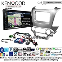 Volunteer Audio Kenwood DNX574S Double Din Radio Install Kit with GPS Navigation Apple CarPlay Android Auto Fits 2015 Chevrolet Tahoe, Suburban