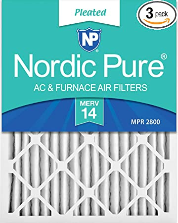 Nordic Pure 20x25x1 MPR 1000D Pleated Micro Allergen Replacement AC Furnace Air Filters 1 Pack