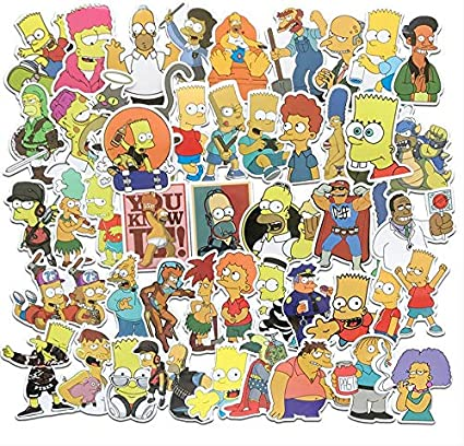 Drole Anime Dessin Anime Les Simpsons Autocollants Graffiti Enfants Jouet Diy Planche A Roulettes Bagages Ordinateur Portable Guitare Refrigerateur De Voiture Stickers 50 Pcs Amazon Fr Informatique