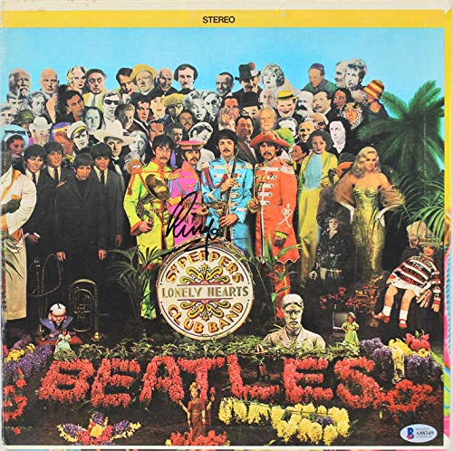 - Ringo Starr Signed Sgt. Pepper's Album Cover Autographed BAS #A88349 - Beckett Authentication