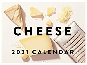 Cheese Lovers Funny Kitchen Decor Foodie Chef 2021 Wall Calendar 12 Month Monthly Full Color Thick Paper Pages Folded Ready to Hang 18x12 inch