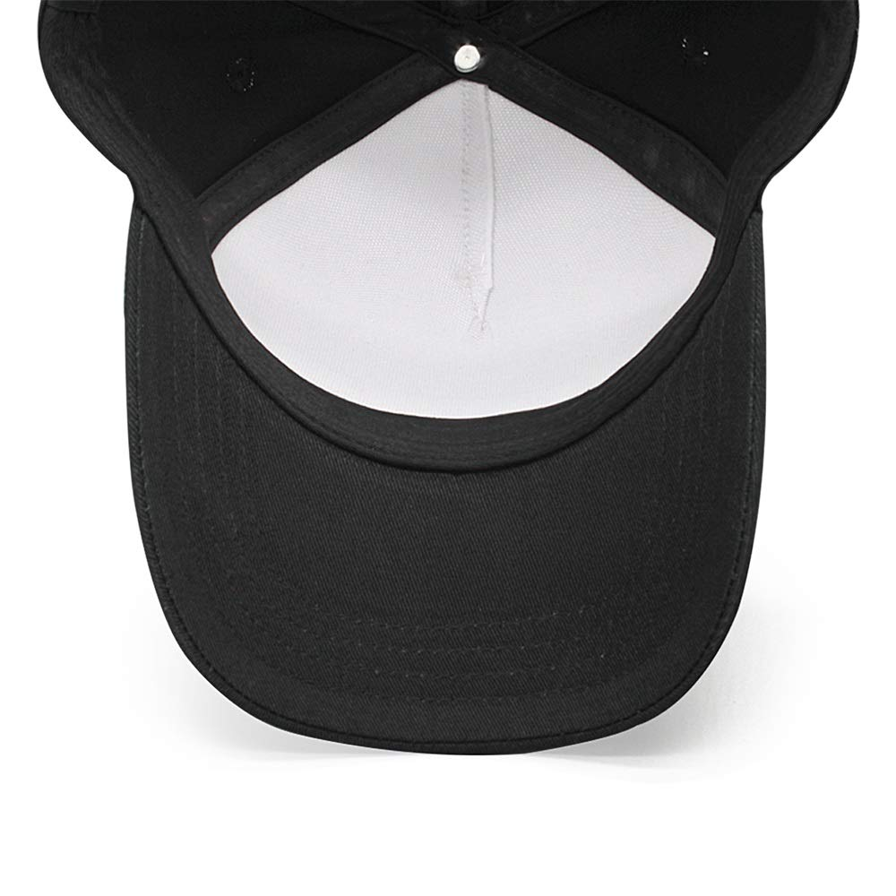 MALKELIN Punk-Black-Genre-/&-White-Logo Man caps Fashion Summer Baseball Hat