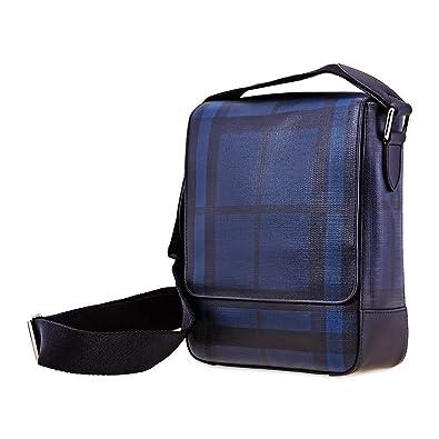 comprare popolare 6c625 6e91e Burberry borsa uomo a tracolla borsello originale greenford blu