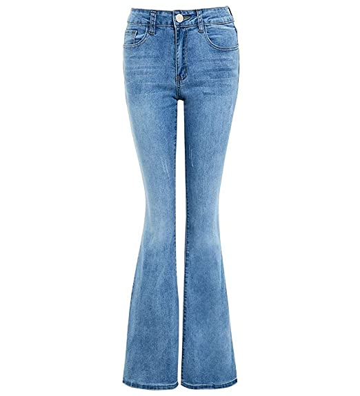 211cc8d8ac1 Womens Denim Jean Flare Flared Stretch Bootcut Jeans Size 6 8 10 12 14 16  New: Amazon.co.uk: Clothing