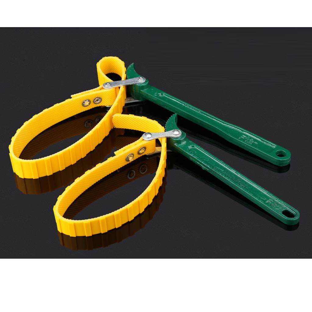 Sharplace Cl/é de Serrage Outil de Solvant de Filtre /à Carburant Cl/é de Courroie de Ceinture R/églable 8 pouces