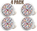 LED Grow Lights for Plants with Heat Sink (28W) - Heavy Duty Aluminum Body - Full Spectrum Energy Efficient Growing Light Bulbs for Indoor Garden, Greenhouse, Hydroponic Vegetables & More (4PACK)