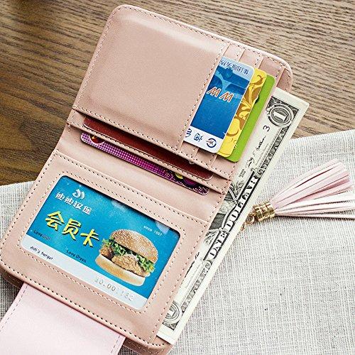 Wallet Coin Women Card Purse Green Clutch Mini Kukoo Zipper Leather Holder Handbag ptdqxx0Sw