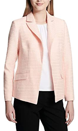 6a080214f3 Image Unavailable. Image not available for. Color  Calvin Klein Textured  Flyaway Jacket ...