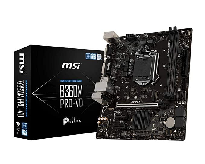 MSI Motherboard B360M PRO-VD Motherboards at amazon