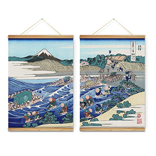 ARTGOW Japanese Style Mountain Seascape Decoration Wall Art