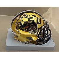 $349 » Joe Burrow Autographed LSU Tigers Signed Chrome Football Mini Helmet PSA DNA COA
