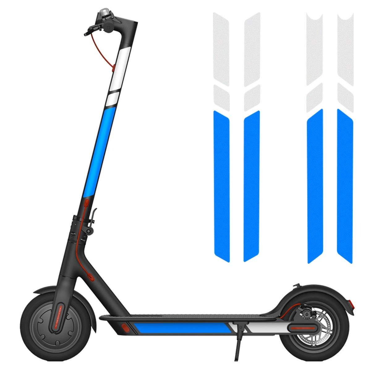 Autocollant R/éfl/échissant,/Étanche Autocollant Lat/éral R/éfl/échissant Fluorescent D/écalcomanie pour Scooter pour Xiaomi Millet Electric Scooter M365 Scooter Autocollant Styling,Scooter Accessoires