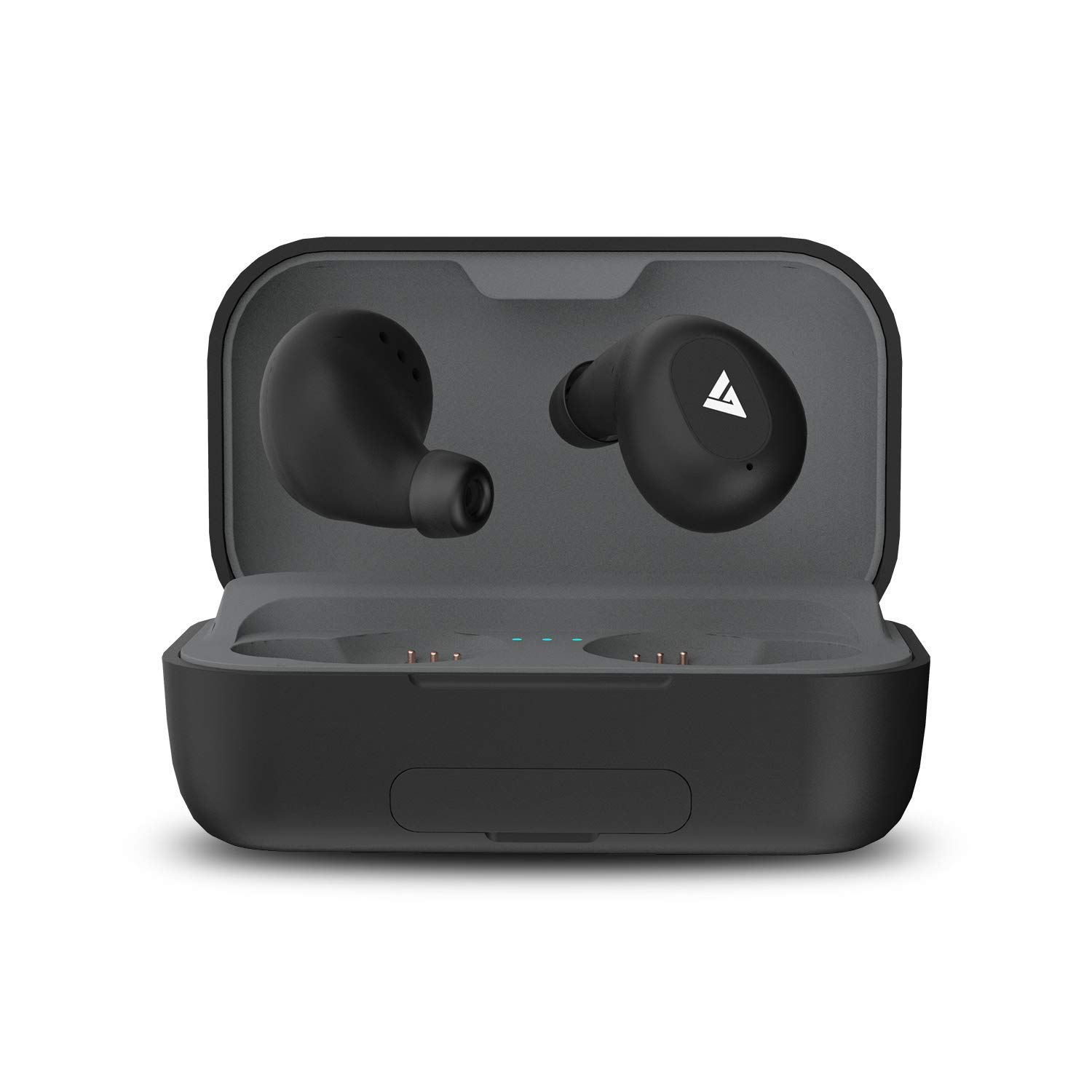 Boult Audio AirBass PowerBuds True Wireless Earbuds with 120 Hours Total Playtime with case, Touch Controls, IPX7 Waterproof in-Built Power Bank for Mobile Charging (Black)