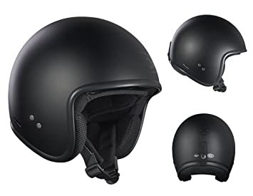 Roof Casco Vintage, color negro mate, talla XS