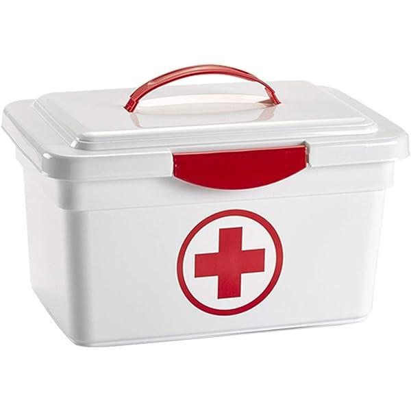 Acan Caja botiquín Primeros Auxilios con Tapa y asa 8L.: Amazon.es: Hogar