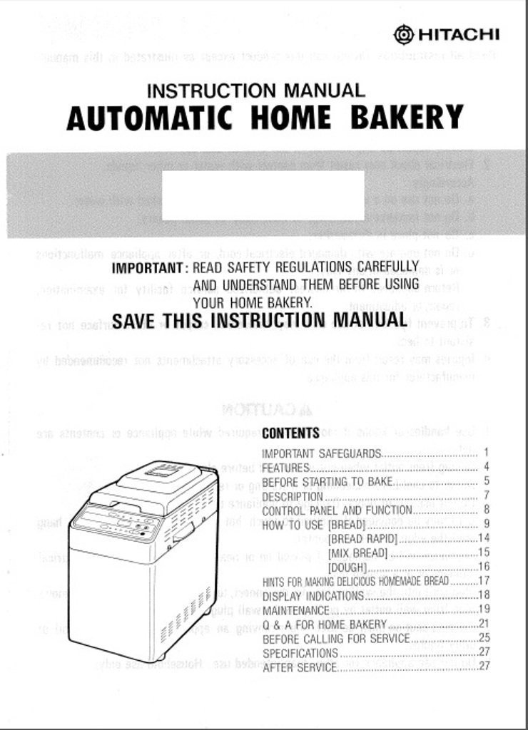Hitachi bread machine manual model hb b102 reprint amazon books fandeluxe