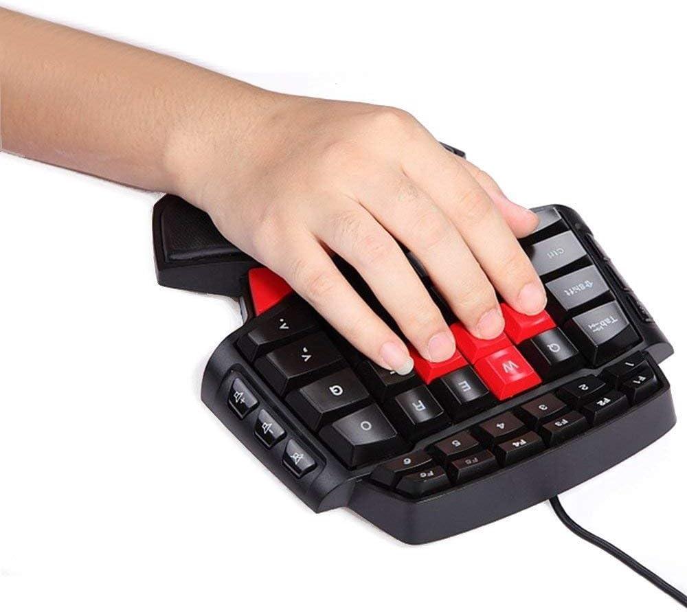 DOTA PinPle Keybaord One Handed Keyboard Portable Mini Gaming Keypad Ergonomic Game Controller for LOL WOW