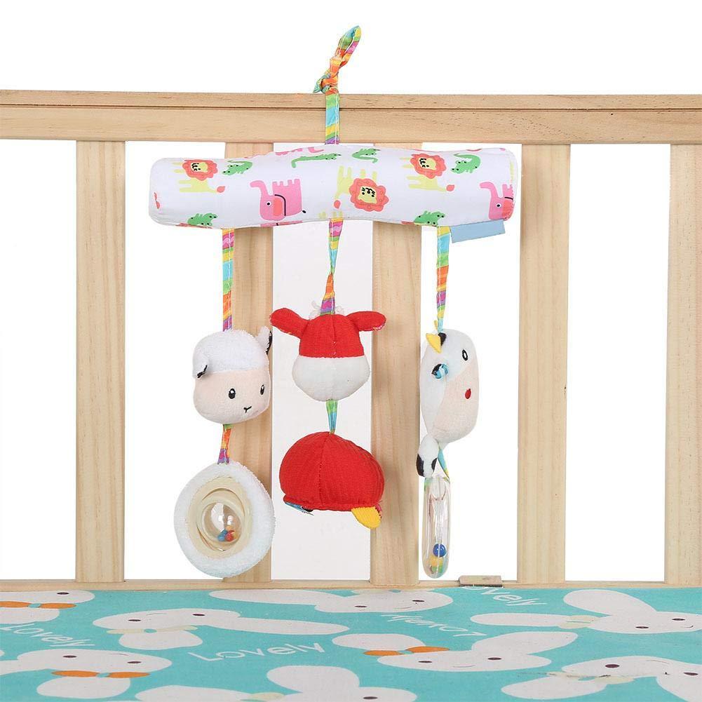 Blau Kinderwagen Anh/änger Spielzeug Neugeborenen Weiche Niedlichen Cartoon Tier Pl/üsch Kinderwagen Warenkorb Anh/änger S/äuglingsbett H/ängenden Ring Spielzeug Zubeh/ör