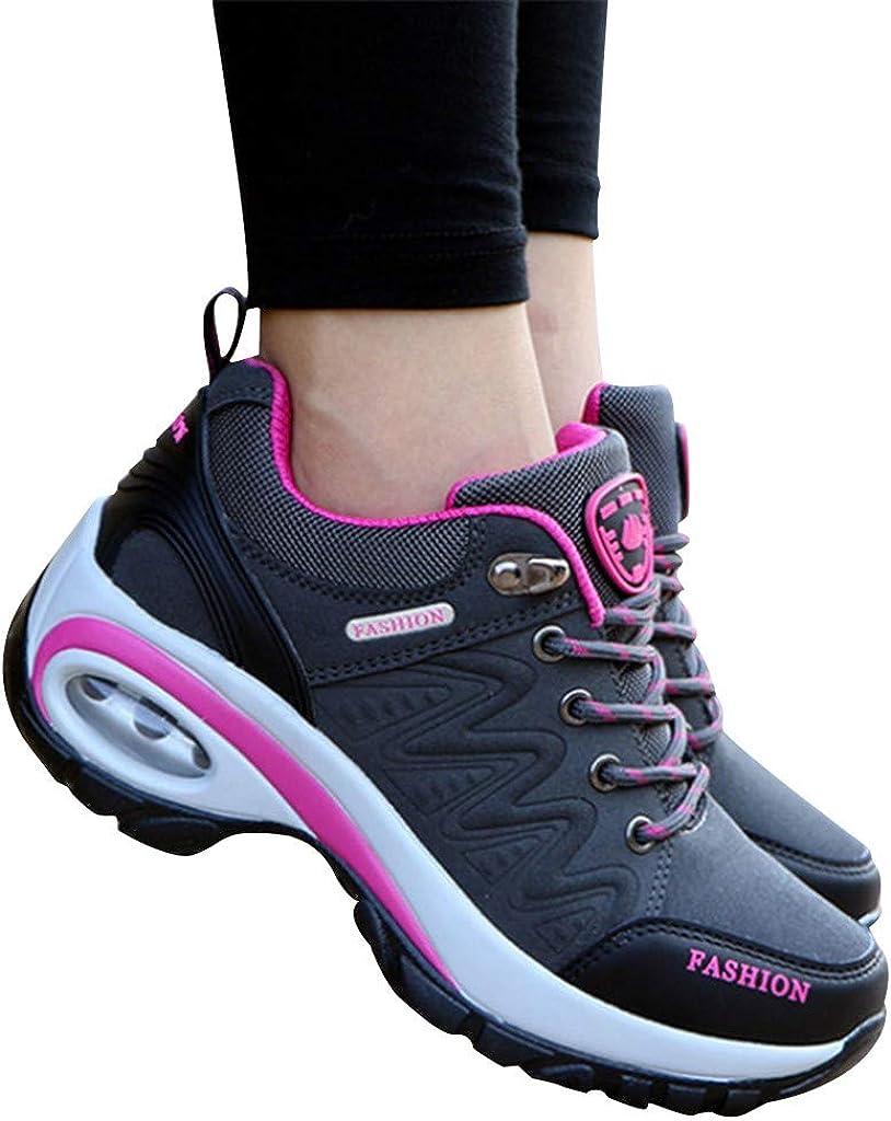 Reaso Dame Sneakers De Haute Qualit/é Chaussures en Daim Chaussures Air Cushion D/éContract/éE Femmes De Course L/éGer Coussin Baskets Respirant Chaussures De Marche pour Athl/éTique Jogging Fitness