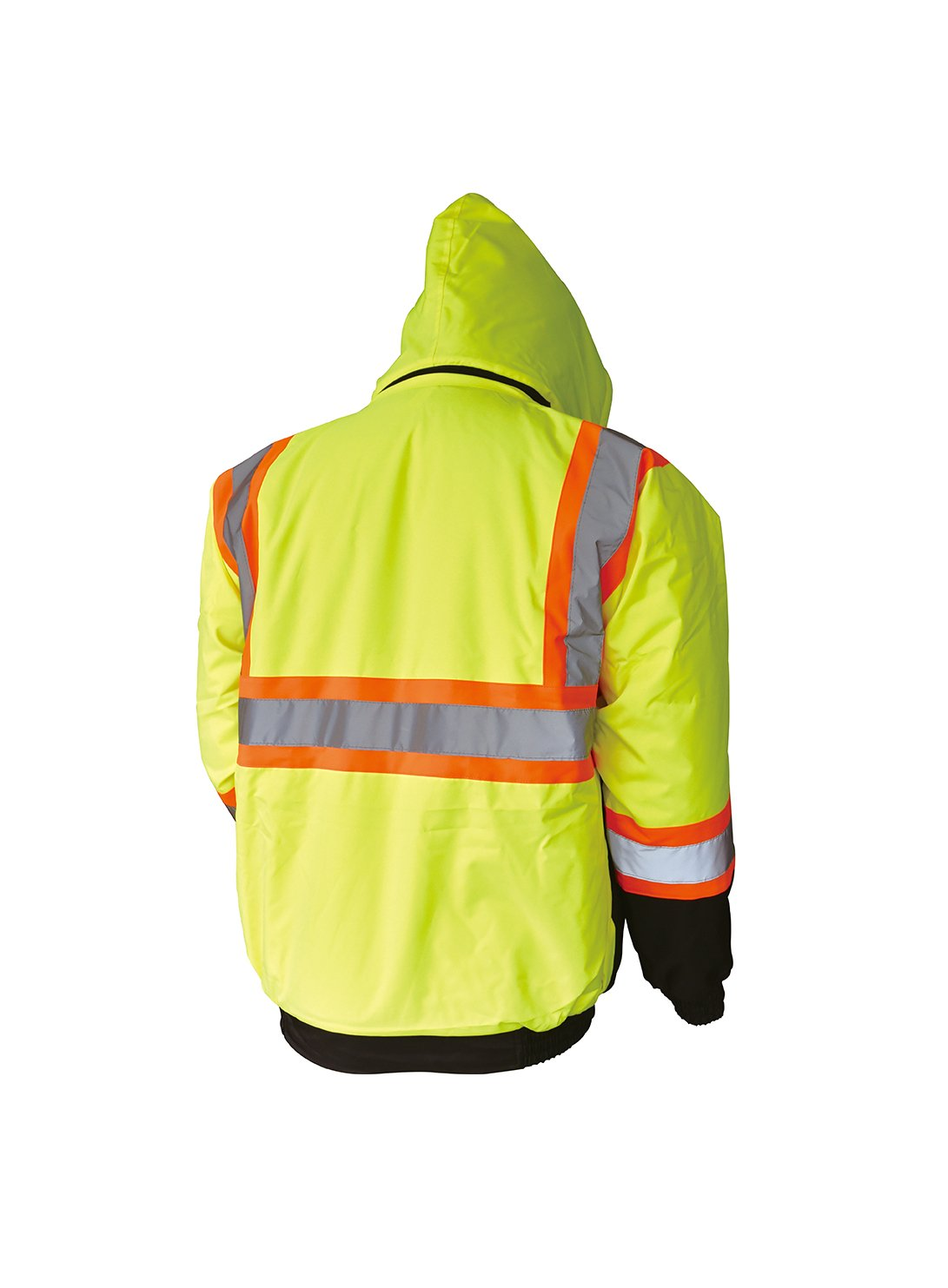 LM High Visibility Class III Reflective Waterproof Bomber Jacket W/Removable Hood (2XL, HJL) by L&M (Image #2)