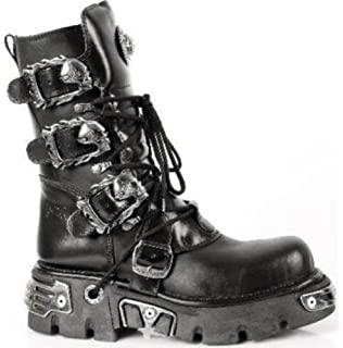 New Rock Boots - Unisexo Botas Estilo 391 S1 Negro - EU 36 7WEMpVan