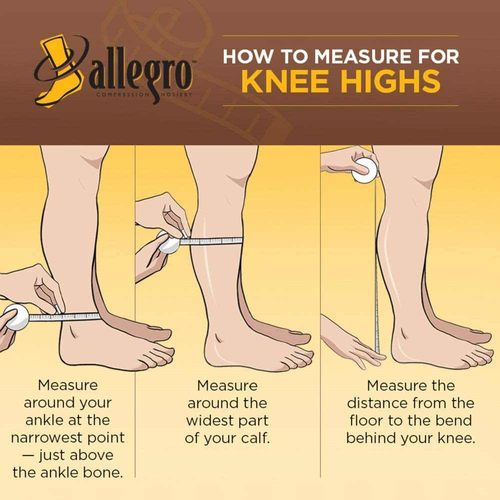 Allegro 15-20mmHg Essential 17 Sheer Support Knee High Open Toe (Nude) Large