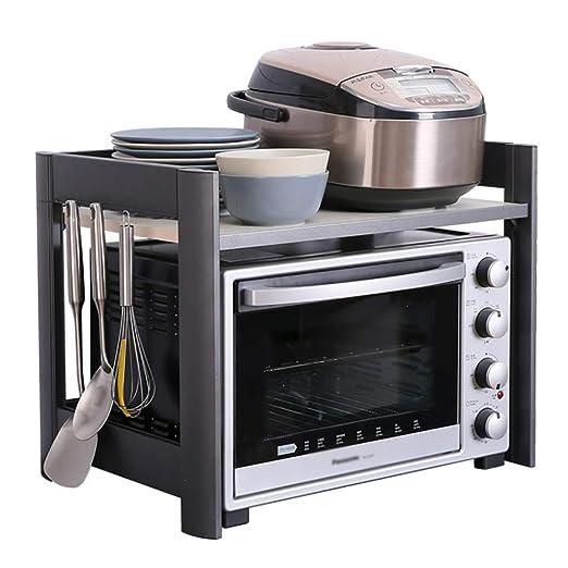 ACZZ Repisa para estantes de hornos de cocina, 2 capas de espacio ...