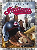 "MLB Cleveland Indians Home Field Advantage Woven Tapestry Throw, 48"" x 60"""