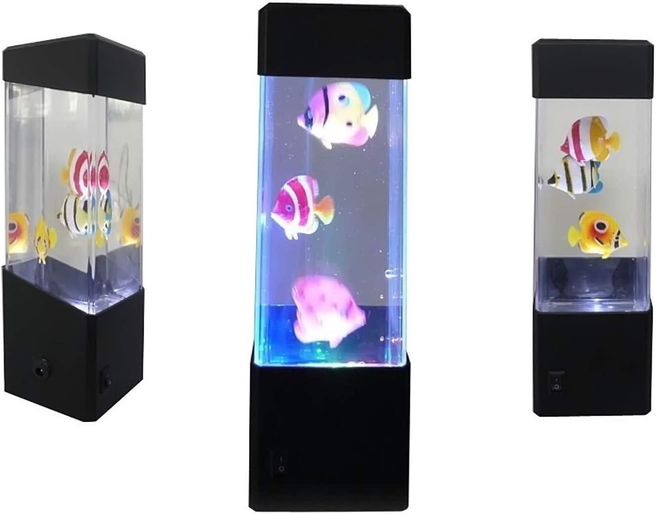 Yosoo Jellyfish Water Ball Tropical Fish Aquarium Tank LED Lights Relaxing Mood Night Lamp Light (Aquarium lamp)