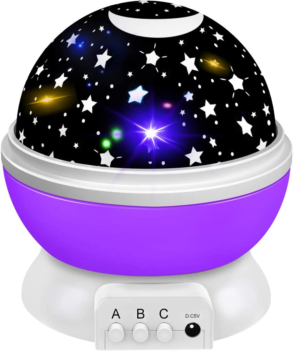 Fun Toys for Kids Boys Girls Age 1-12, Tesoky Kids Night Light Star Projector Indoor Toys Stocking Stuffers for 3-10 Year Old Boys Girls Birthday Christmas Gifts for 2-12 Years Old Boys Girls Purple