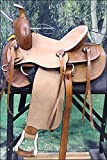 WESTERN YOUTH CHILD ROPING COWBOY TRAIL PLEASURE LEATHER HORSE SADDLE - TAN
