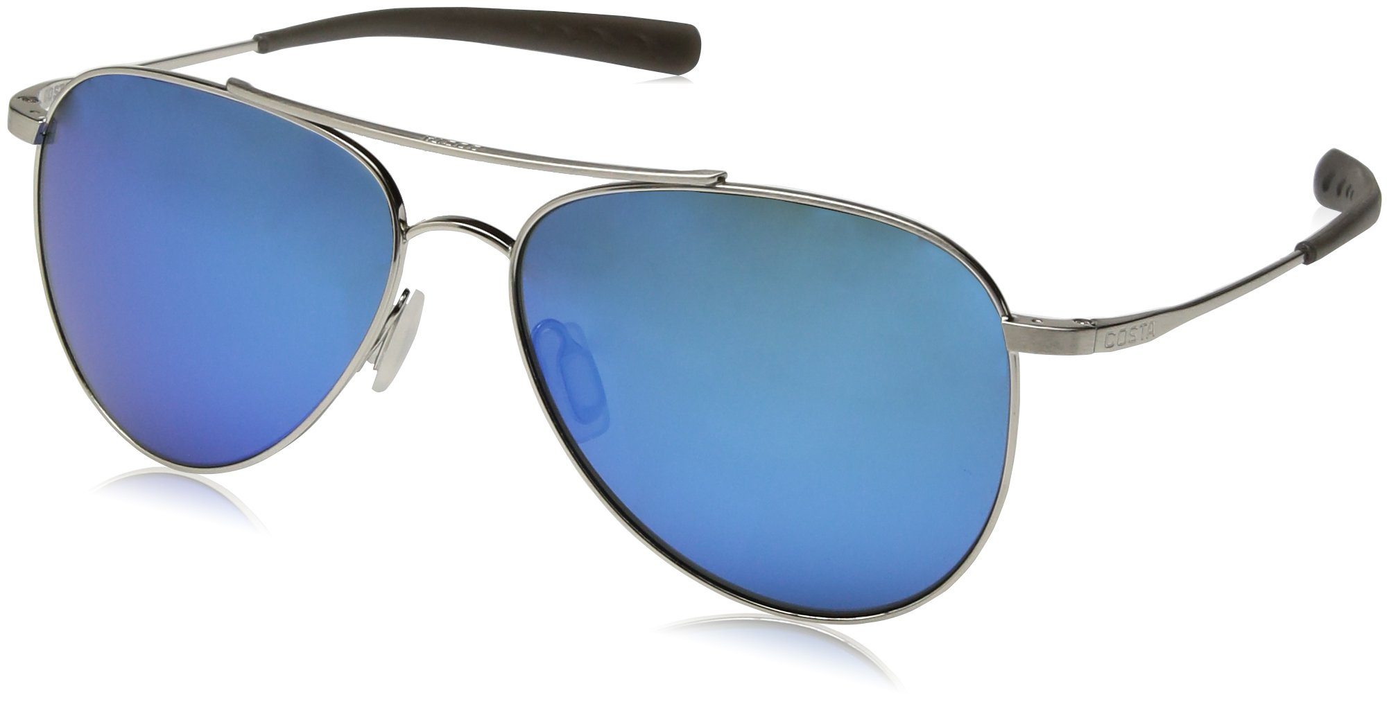 Costa del Mar Cook Polarized Iridium Aviator Sunglasses, Brushed Palladium, 59.7 mm by Costa Del Mar (Image #1)