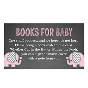 Amazon Pink Elephant Bring A Book Insert For A Baby Shower 50