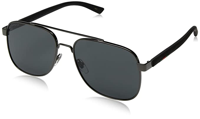 Amazon.com: Gucci GG 0422S 001 - Gafas de sol (metal), color ...