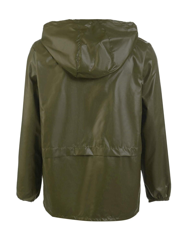JINIDU Mens Packable Rain Jacket Hooded Lightweight Waterproof Raincoat for Cycling Camping Travel