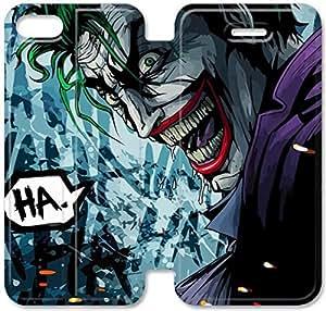 caso de cuero del tirón Joker A3T67J4 iPhone 5 5S 5SE funda de cuero duro M5D73B1 personalizada caja del teléfono funda
