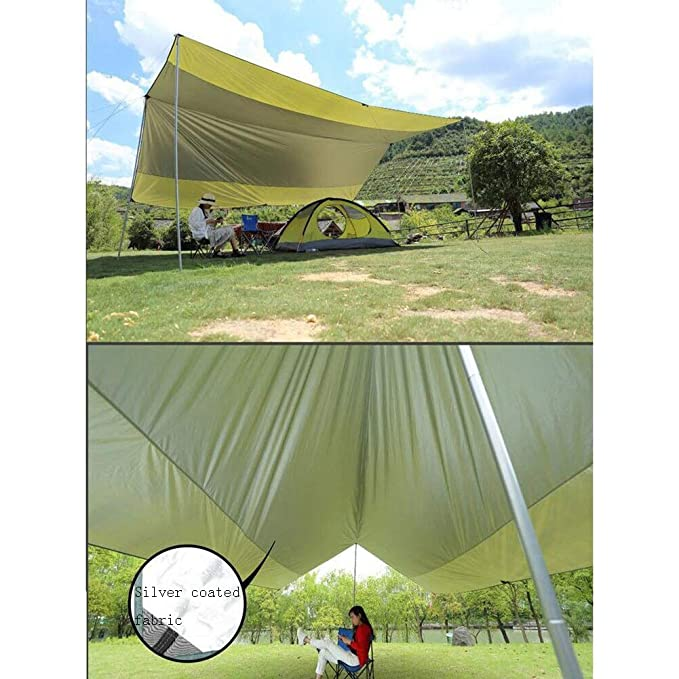 CAIJUN Toldo Impermeable Refugio Playa Lona Carpas De Camping Pérgola Tela Oxford Protector Solar Impermeable Portátil Color De Costura, 4 Estilos (Size : C): Amazon.es: Hogar