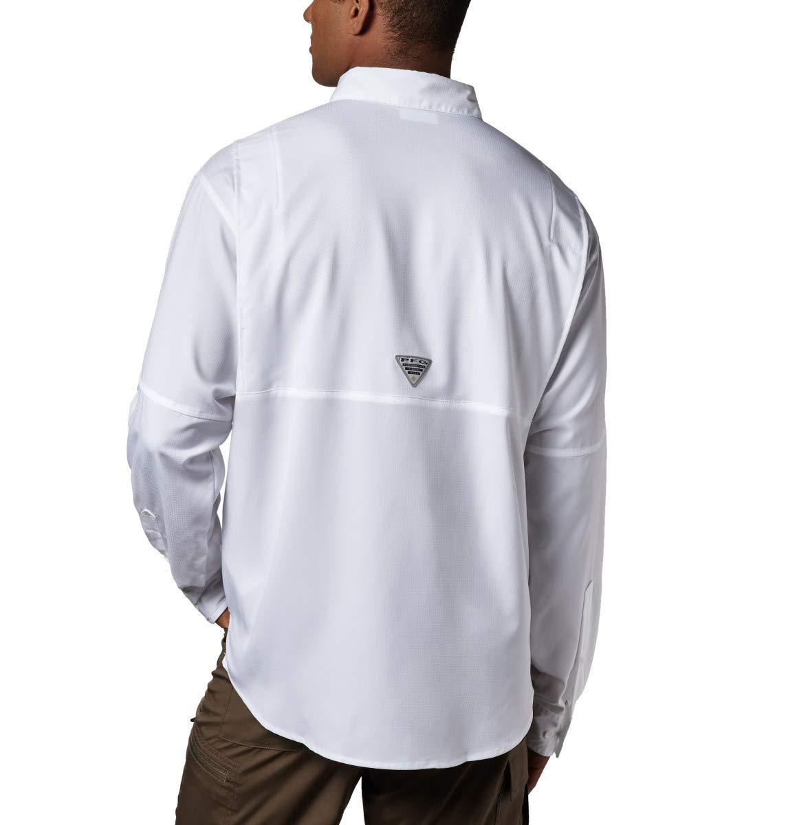 Columbia Men's PFG Tamiami II Long Sleeve Shirt - Big , White, X-Small