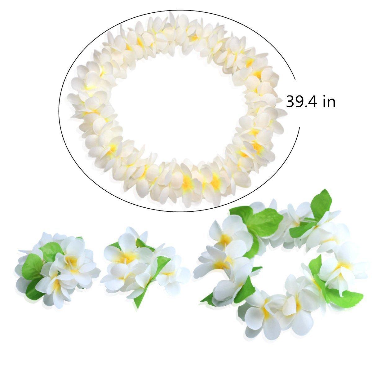 Amazon Hawaiian Headpiecehawaiian Flower Leis Jumbo Necklace
