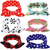 Baby Bow Knotted Headband Girl's Hair Accessories Band Head Wrap Headwear 6 Pcs