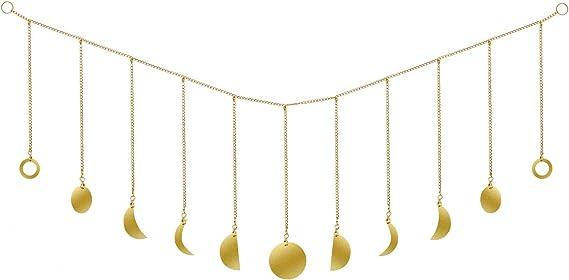 ASSDITED Guirlande de Phase de Lune with Chains Boho Ornements D/écorations D/écor de Salle dart pour la Maison pour Les Enfants Chambre Garderie No/ël Anniversaire F/ête