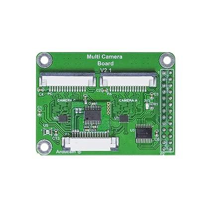 Arducam Multi Camera Adapter Module V2 1 for Raspberry Pi 4 B, 3B+, Pi 3,  Pi 2, Model A/B/B+, Work with 5MP or 8MP Cameras