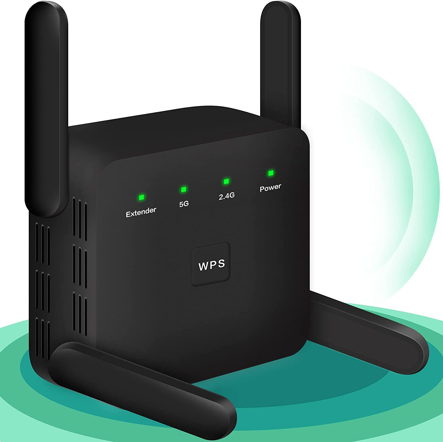 WiFi Booster, 1200Mbps WiFi Extender, 2.4G & 5G WiFi Extenders Signal Booster for Home, Stable Network WiFi Repeater Strong Internet Booster for WiFi Wireless WiFi Boosters for The House 4 Antennas