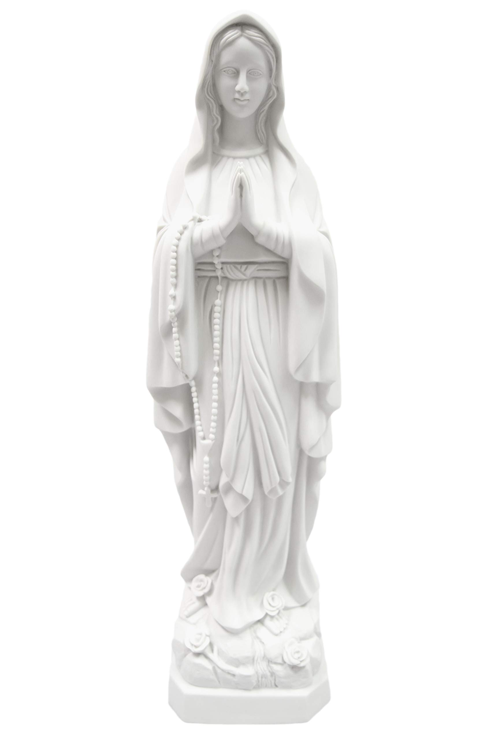 """27"""" Our Lady of Lourdes Blessed Virgin Mary Italian Statue Sculpture Figure Vittoria Collection Made in Italy"""