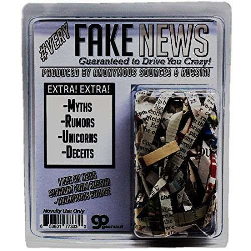 Very Fake News – Political Gag Gift Guaranteed to Drive You Crazy Alternative Facts Shredded News – Just Like the Real Thing Funny Political Novelty Gifts Donald Trump White House Novelty Gifts