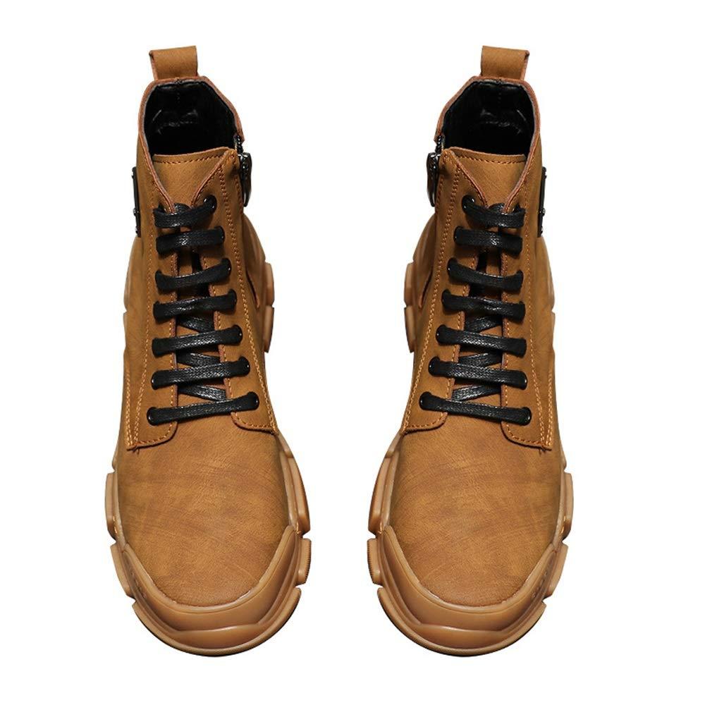 ZHRUI Herren Casual Classic Stiefel Stiefel Stiefel Soft Sohle Durable Non Slip Comfort Fashion Stiefel (Farbe   Braun, Größe   EU 41) 35faa2