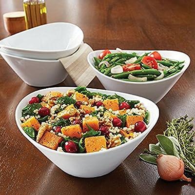 Amazon.com | 4 Piece Porcelain Serving Bowl Set: Dinnerware Sets