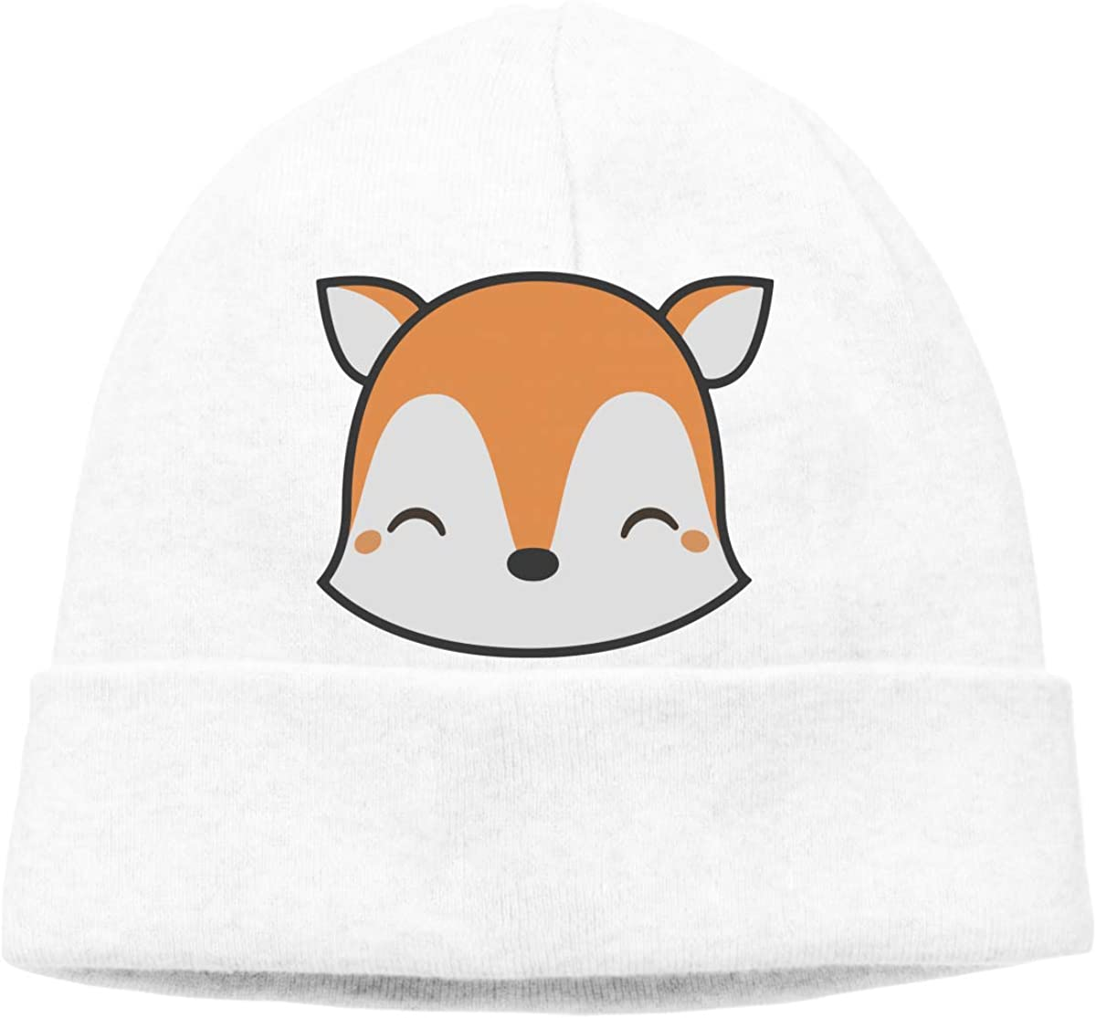 Men Women Cute Fox Soft Knit Hats Soft Hat