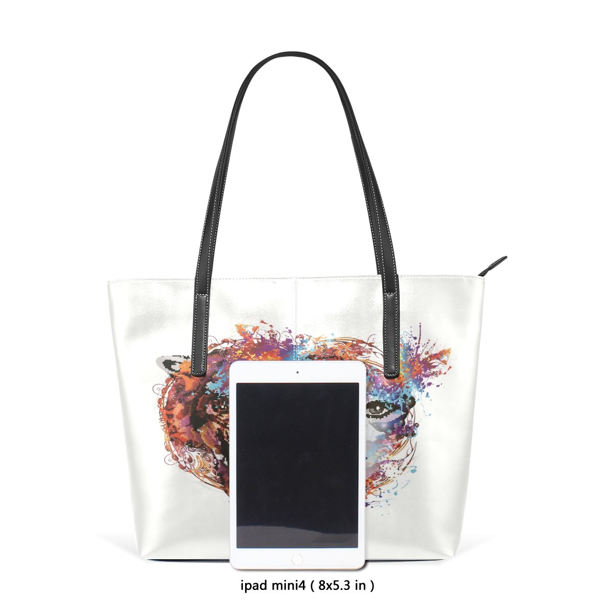 Womens Leather Top Handle Shoulder Handbag Beauty Wild Beast Large Work Tote Bag