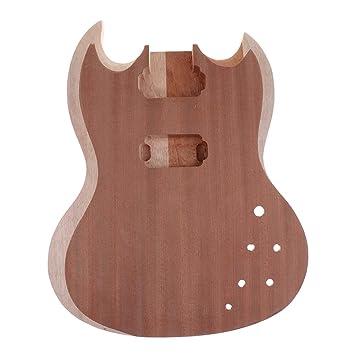 FLAMEER Cuerpo Guitarra Eléctrica DIY Fender Squier Sin Terminar Lisa Artesanía Exquisita: Amazon.es: Instrumentos musicales